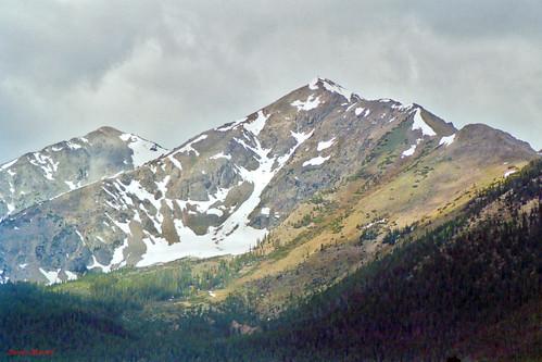 landscape mountain snow clouds frisco colorado unitedstates