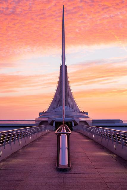 Sunrise at the Milwaukee Art Museum