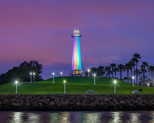 longbeach lighthouse portoflongbeach longbeachharborlighthouse sunrise