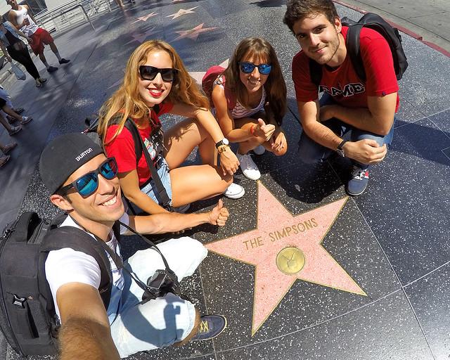 En el paseo de la fama de Los Angeles