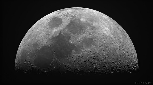 First Quarter Moon, July 19, 2018