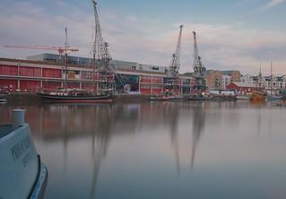 Calm before the storm. Bristol harbour fest 2018.