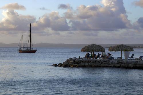 landscape seascape sunset marine tropical sailboat