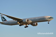 Triple7: CX271 Cathay Pacific Boeing 777-300ER (B-HNR) arriving from Hong Kong at Schiphol Amsterdam