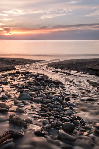 stream river pebbles beach seascape algeria