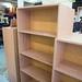 Oak open bookcase E130