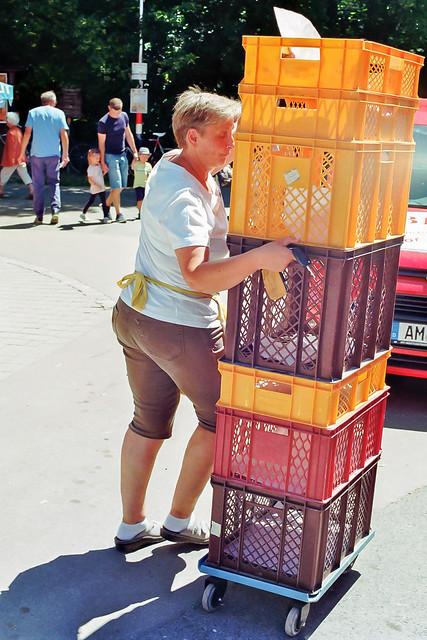 Bavarian Trolley Lady
