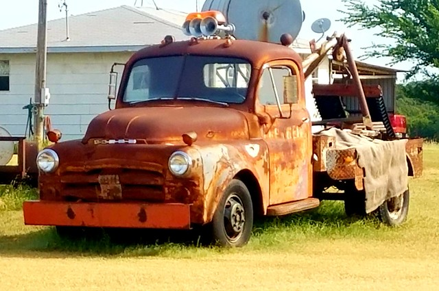 old tow truck