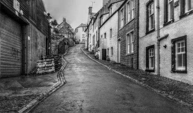 street on the hill