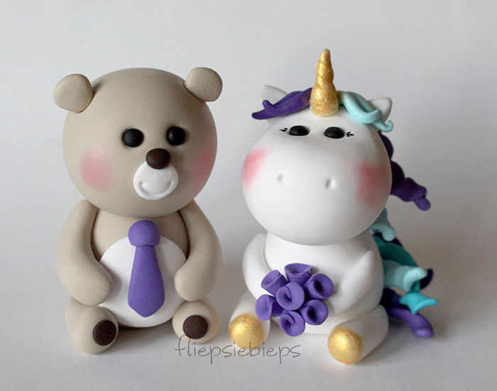 Bear And Unicorn Wedding Cake Topper Esther Flickr