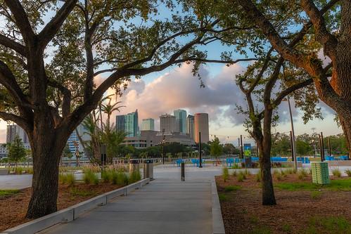 beercan florida julianlanepark rivergatebuilding skyline strazcenterfortheperformingarts sunrise sykesbuilding tampa unitedstates us