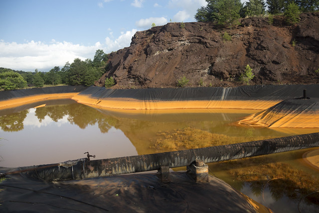 Tailings pond, Copperhill Industries, Polk County, Tennessee
