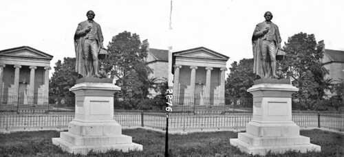 lawrencecollection stereographicnegatives jamessimonton frederickhollandmares johnfortunelawrence williammervynlawrence nationallibraryofireland statue sculpture plinth columns house williamparsons 3rdearlofrosse angloirish astronomer telescope 72inchtelescope 1845 leviathanofparsonstown largesttelescope lordoxmantown baronoxmantown birr offaly county countyoffaly johnhenryfoley stereopairsphotographcollection stereopairs