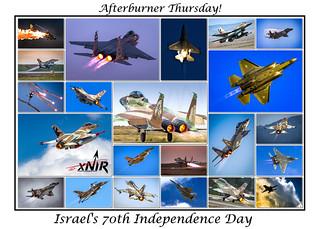 Afterburner Thursday! Israel's 70th Independence Day Poster! © Nir Ben-Yosef (xnir) | by xnir