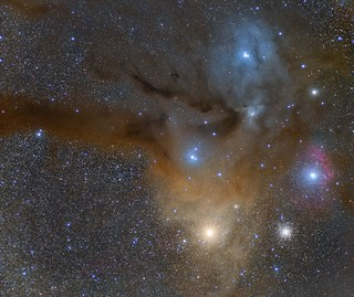 Antares and Rho Ophiuchi | by Rafael Compassi