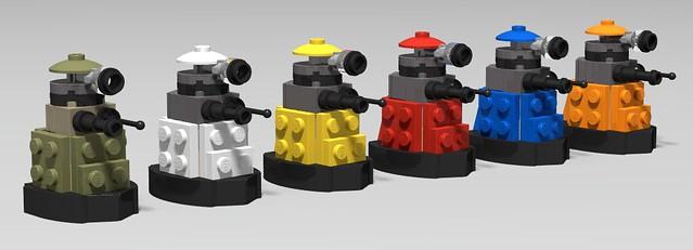lego Paradigm daleks moc (+ WW2 dalek)