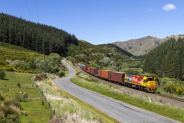 KiwiRail 5264 | trein 725 | Ethelton (NZ) | 19-11-2014