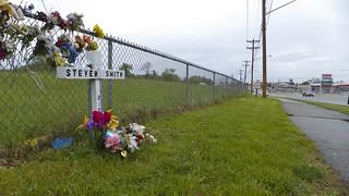 Roadside Memorial for Steven Smith (1 of 3)