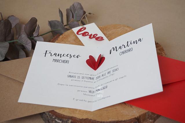Partecipazioni nozze Love