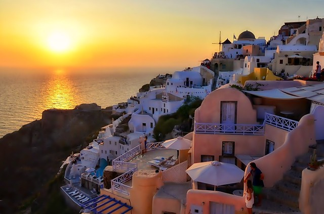 Sunset in Oia - Santorini