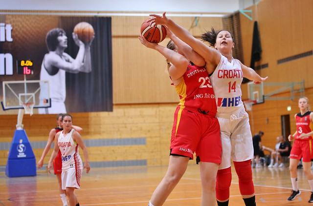 Deutschland - Kroatien U18 Basketball in Heidelberg Juli 2018