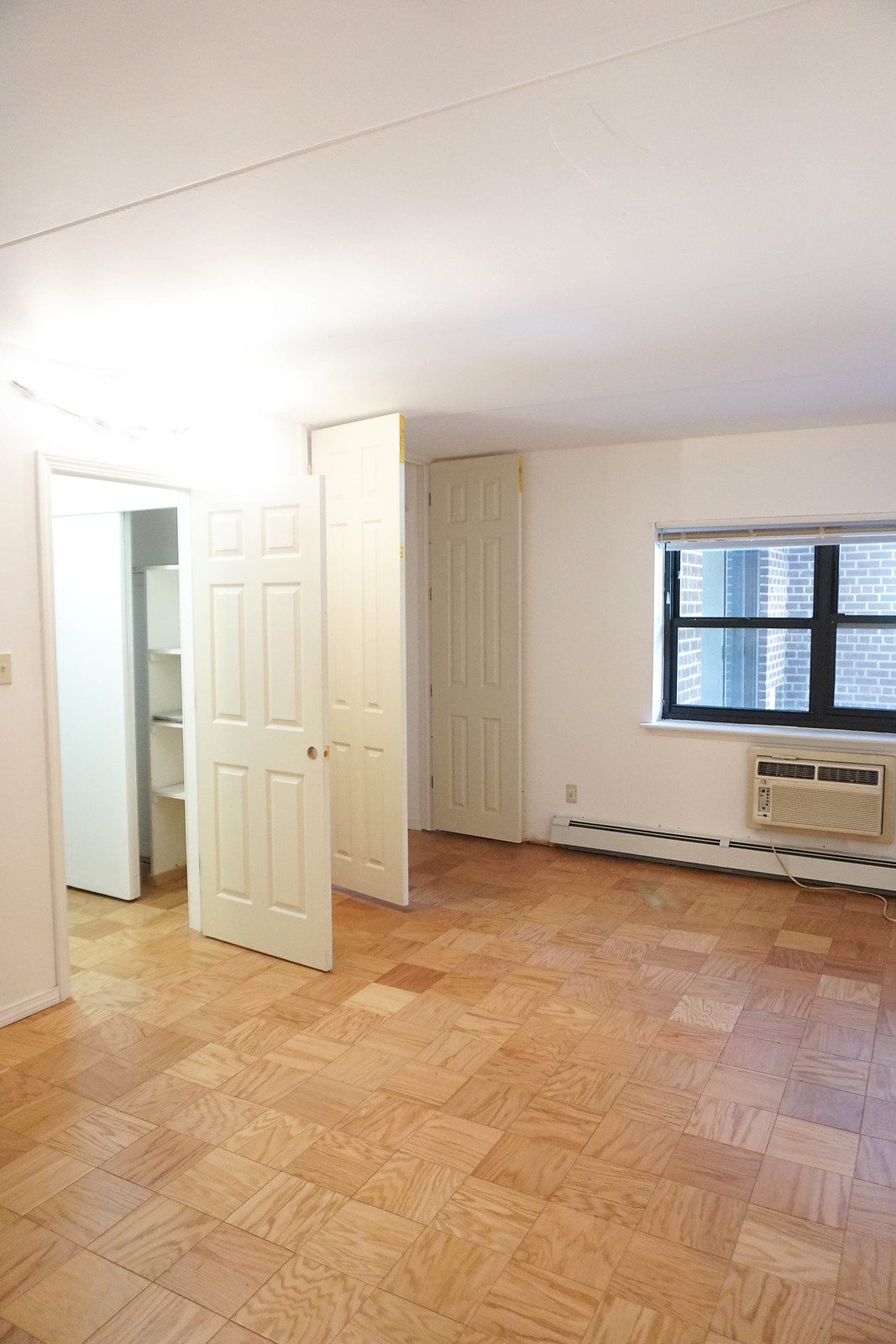 Before Master Bedroom Renovation Photos | Parquet Floors | New York One Bedroom Apartment Reno | Before & After: Feminine Chic Bedroom Renovation