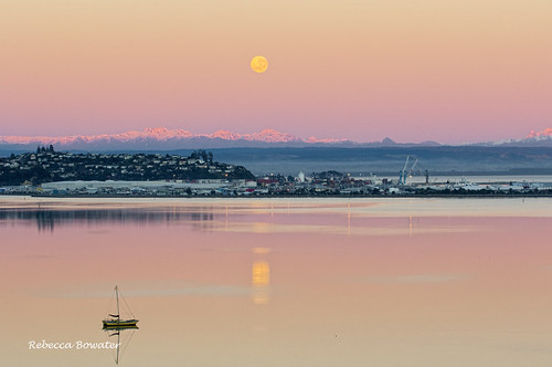 sunrise moon sky landscape canon 7d canon7d pink