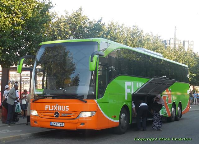 Flixbus wrapped Mercedes Tourismo ENY520 Sweden