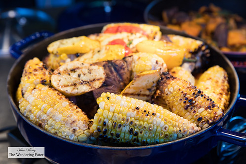 Grilled corn served at the barbecue | by thewanderingeater