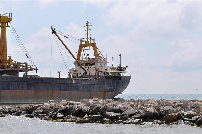 "Krasnodar region. Turkish dry cargo ship ""Ziya Koc"" in Kabardinka / Турецкий сухогруз ""Ziya Koc"" в Кабардинке"