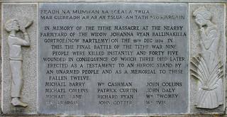 Tithe War Monument  Inscription   by Kman999