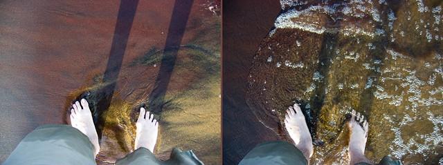 pieds dans le sable de Taillon