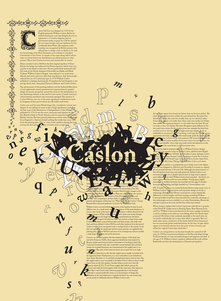 Caslon typography poster | This typography poster was create