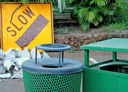 Slow trash day