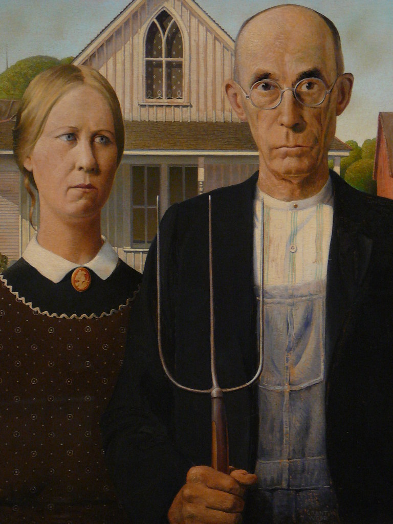 American Gothic Grant Wood 1930 Jimcchou Flickr