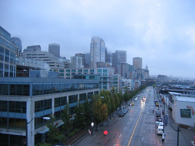 Downtown Seattle in the Rain