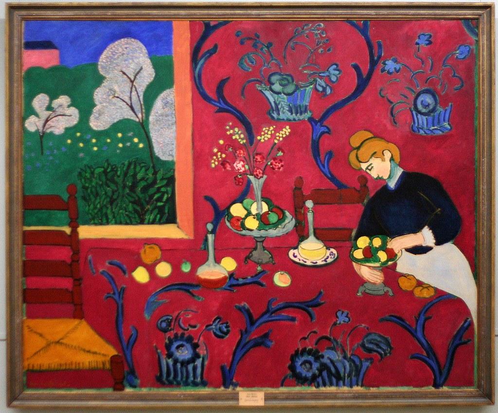 Rouge Dans Une Chambre henri matisse - le chambre rouge (harmonie rouge) 1908 - i