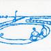 croxcard 43 Thomas Böing (1963)<br /> At Noon, 2005<br /> tekening 13x18 cm