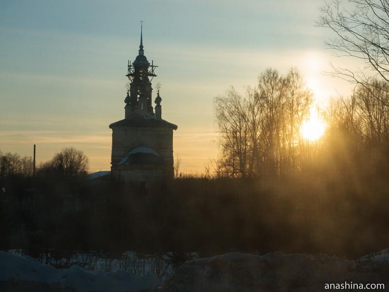 Преображенская церковь в селе Коровново, Костромская область
