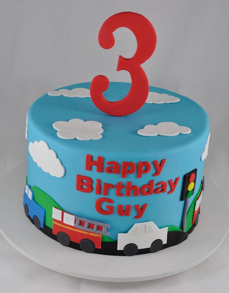 Firetruck Themed Birthday Cake