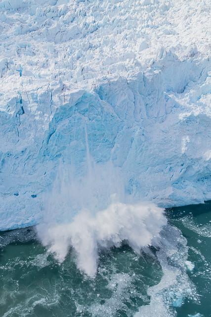 Aialik Glacier Calving Aerial Photo