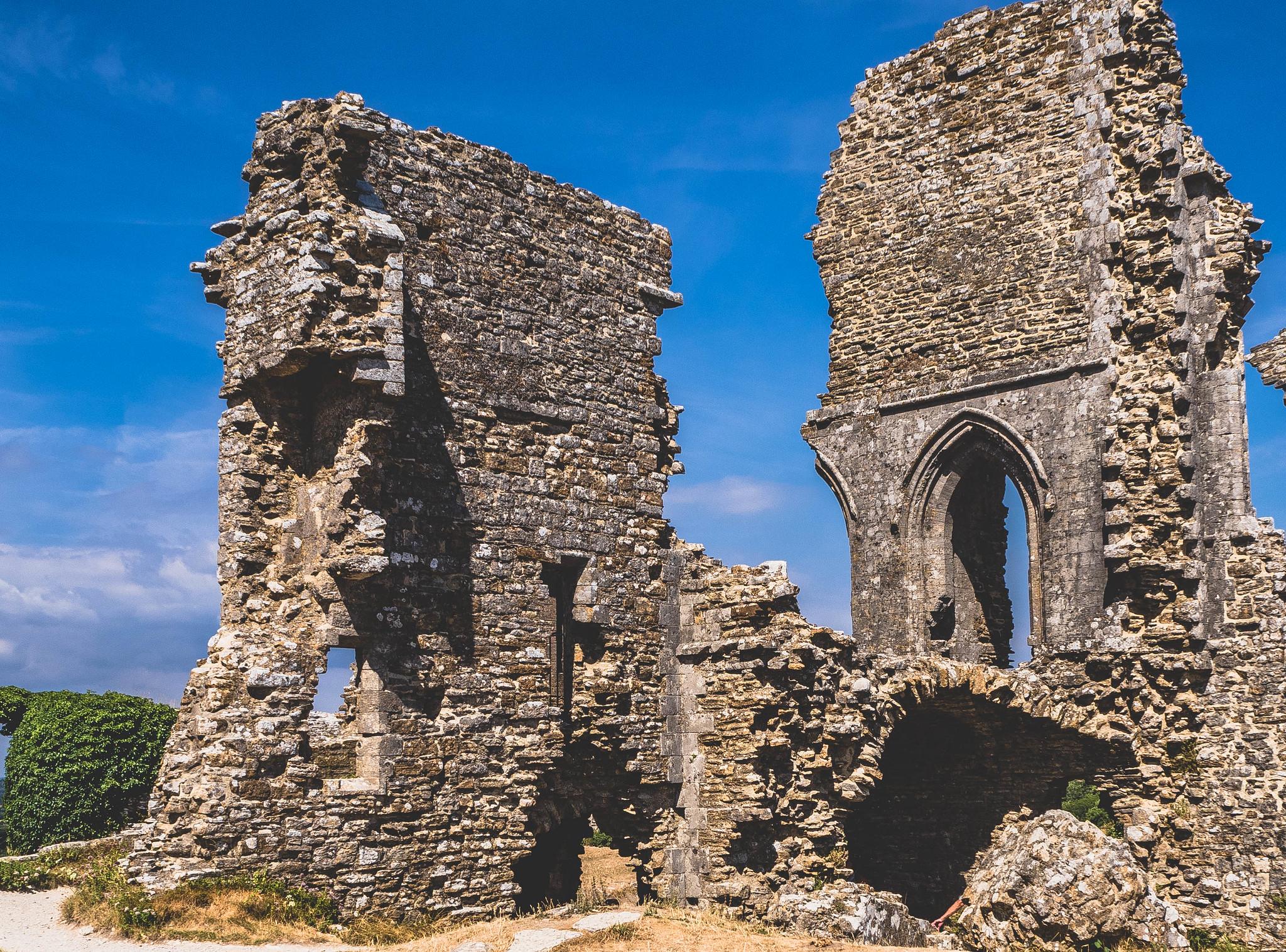 Corfe Castle Ruins - Inside Ruins