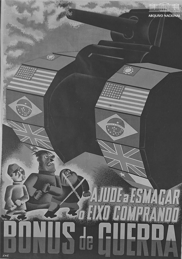 Cartaz de propaganda de guerra: Bônus de guerra.
