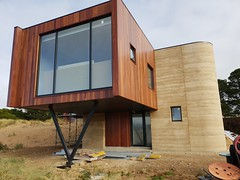 Curved rammed earth