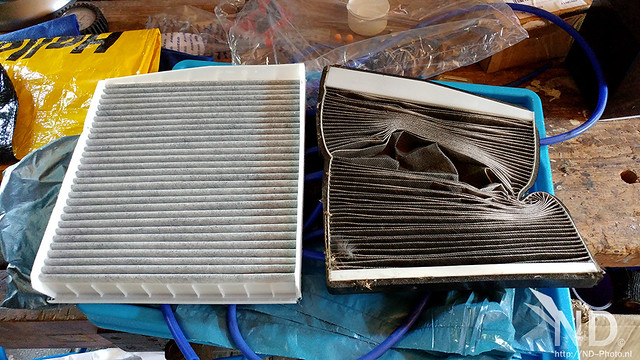 Volvo S80 2.4T Changing the Combo filter