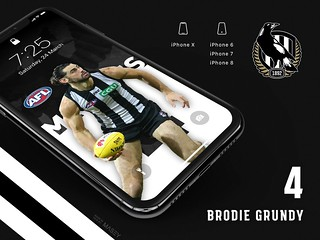 #4 Brodie Grundy (Collingwood Magpies) iPhone Wallpapers | by Rob Masefield (masey.co)