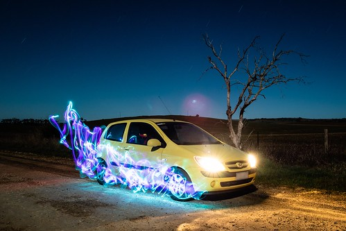 Light Painting car