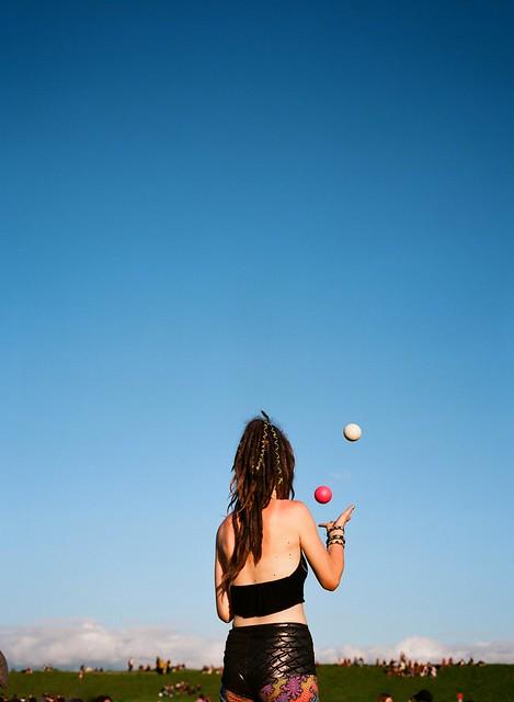 Juggler Girl, Avebury Summer Solstice, 2018