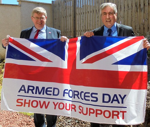 With Martin Whitfield MP showing support for Armed Forces Day | by Iain Gray MSP