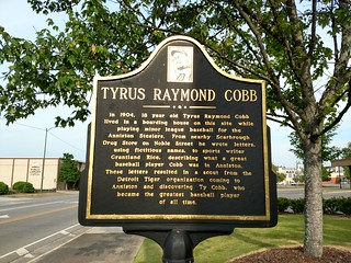 Anniston, Alabama - Tyrus Raymond Cobb Historical Marker | by Darrell Harden